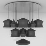 Beat Mega Multi Light Pendant - Black