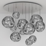 Melt Mega Multi Light Pendant - Chrome