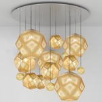 Etch Mega Multi Light Pendant - Brass