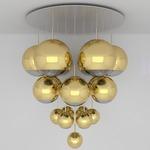 Mirror Ball Mega Multi Light Pendant - Gold