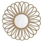 Jute Flower Mirror - Jute Rope / Mirror