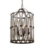 Belmont Tall Indoor / Outdoor Pendant - Florence Gold / Clear