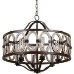 Belmont Wide Indoor / Outdoor Pendant - Florence Gold / Clear