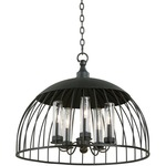 Ludlow Indoor / Outdoor Pendant - Natural Iron / Clear