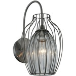 Emilia Jug Outdoor Wall Light - Stainless Steel / Clear