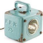 Industrial Table Light - Vintage Light Blue
