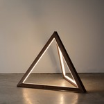 Tetra Floor Lamp - Walnut