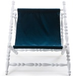 Heritage Deck Chair - White / Blue