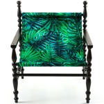 Heritage Arm Chair - Black / Leaves