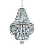 Malibu Chandelier - Distressed Rust / Weathered Blue