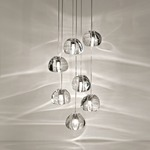 Mizu 7 Light Pendant - Brushed Nickel / Crystal