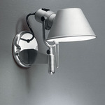 Tolomeo Micro Wall Spot with Switch - Aluminum