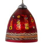 Elan FJ Mini Pendant - Satin Nickel / Dolphin Red