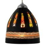 Elan FJ Mini Pendant - Satin Nickel / Dolphin Black