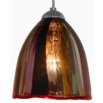 Elan FJ Mini Pendant - Satin Nickel / Sexy Red Lips