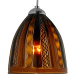 Elan FJ Mini Pendant - Satin Nickel / Twist Caramel