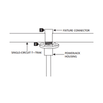 T-Trak 1-Circuit Fixture Connector  -  /