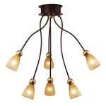 Rose Tulipe 6 Light Chandelier