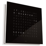 Qlocktwo Wall Clock English Version -  / Black