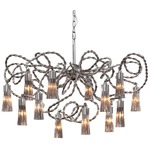 Sultans of Swing Round Chandelier - Nickel /