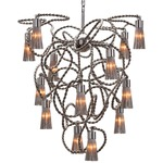 Sultans of Swing Conical Chandelier - Nickel /