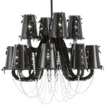 Lola Chandelier with Crystals - Matte Black / Crystal