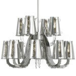 Lola Chandelier with Crystals - Stainless Steel  / Crystal