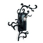 Flower Power Left Wall Sconce - Black /