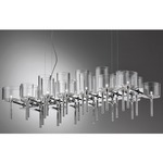 Spillray 26 Light Chandelier - Polished Chrome / Crystal