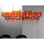 Spillray 26 Light Chandelier - Polished Chrome / Orange