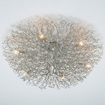 Hollywood Round Ceiling Flush Mount - Nickel /