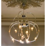 Chill Out Two Tier Suspension with Crystal Balls - Chrome / Crystal