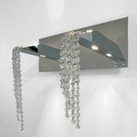 Beauty of Silence Wall Light - Chrome / Crystal