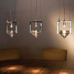 Elements of Love H3 / H5 Linear Suspension - Chrome / Crystal