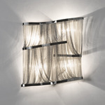 Atlantis Large Wall Sconce - Nickel /