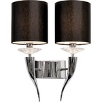 Loving Arms W2 Double Wall Lamp - Chrome / Black