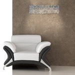 Nightlife Wall Sconce - Chrome / Clear