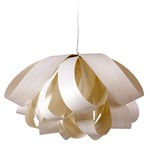 Agatha Pendant - Brushed Nickel / Ivory White Wood