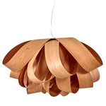 Agatha Pendant - Brushed Nickel / Cherry Wood