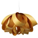 Agatha Pendant - Brushed Nickel / Yellow Wood