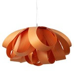Agatha Pendant - Brushed Nickel / Orange Wood