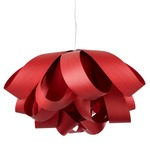 Agatha Pendant - Brushed Nickel / Red Wood
