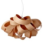 Agatha Pendant - Brushed Nickel / Natural Cherry Wood