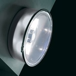 Box Round Wall Sconce or Ceiling Flush Mount - Transparent / Clear