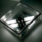 Box Square Ceiling Flush Mount or Wall Sconce - Transparent / Clear