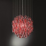 AVIR Suspension - Polished Steel / Red