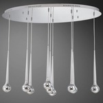 Micro 9 Light LED Multi Pendant Suspension