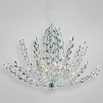 Filigree Pendant Chandelier - Chrome / Clear Crystal