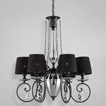 Nero Chandelier - Polished Nickel / Black / Black