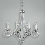Volte Chandelier - Polished Nickel / Crystal